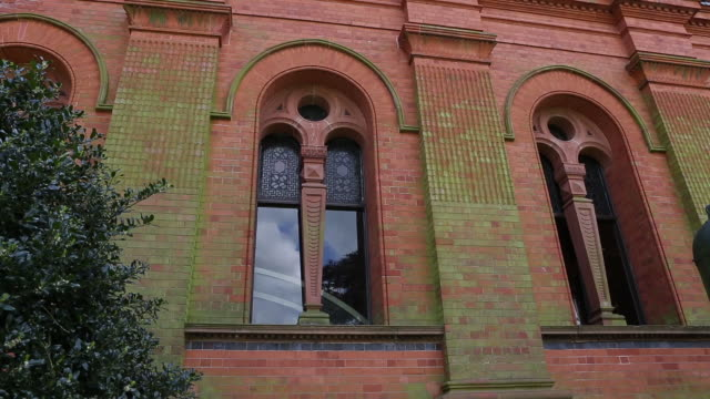 papplewick pumping station exterior windows - pumping station stock videos & royalty-free footage