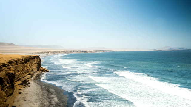 paracas natural reserve - reserva natural stock videos and b-roll footage