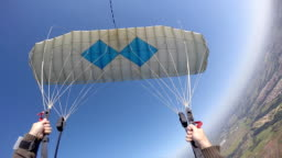 Parachute piloting point of view