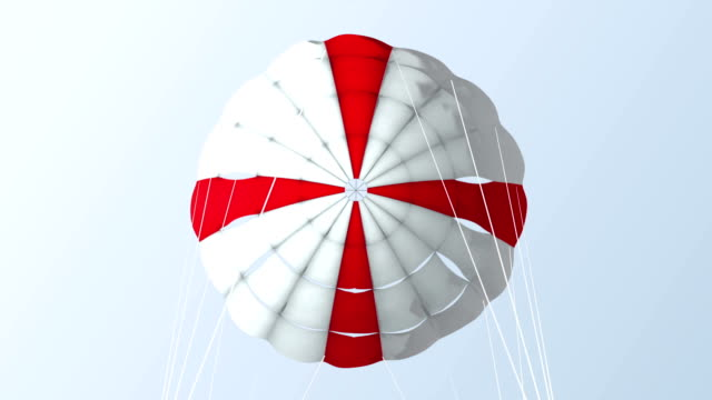 parachute_ red cross_pov - parachuting stock videos & royalty-free footage