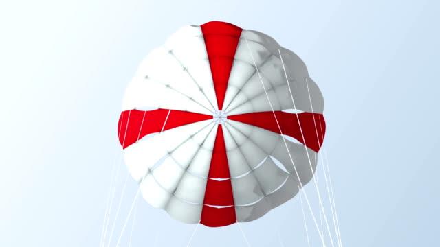 parachute_ red cross_pov - parachuting stock videos and b-roll footage