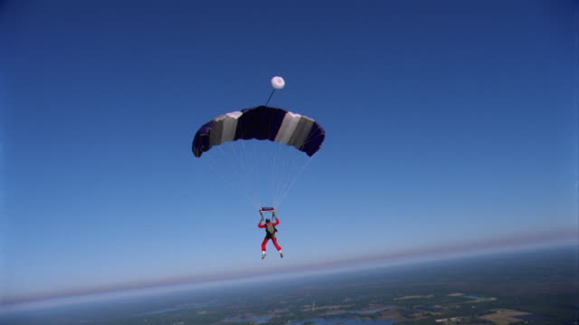 Parachutist In Clear Sky