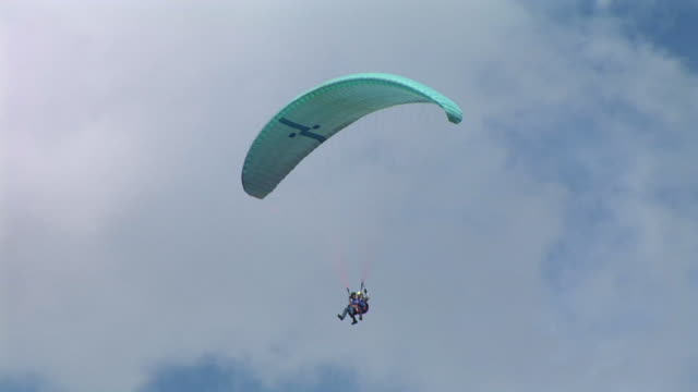 hd: parachutists in the sky - paragliding stock videos & royalty-free footage