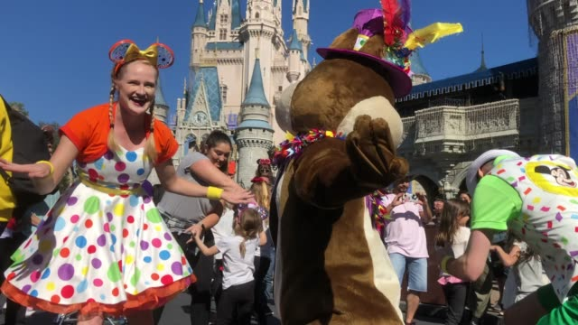 parade and performance at the magic kingdom orlando disney park - disney stock videos and b-roll footage
