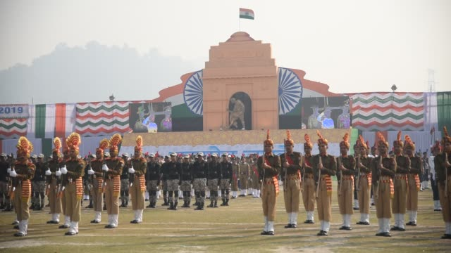 Parade during the 70th Republic day celebration in Guwahati Assam on Saturday January 26 2019