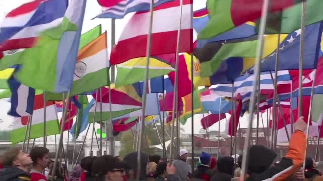 A parade in Moscow takes place on the eve of a youth festival at which Russian President Vladimir Putin is expected to speak in the latest effort to...