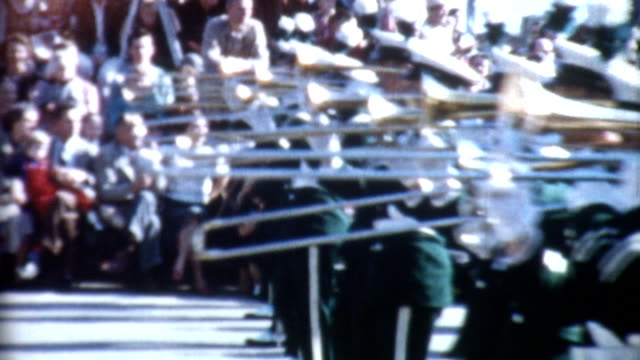 parade marching band 1950's - marching band stock videos & royalty-free footage