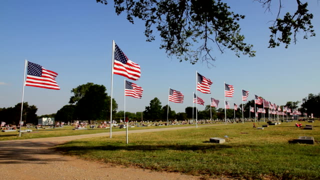parade of flags - us memorial day stock videos & royalty-free footage