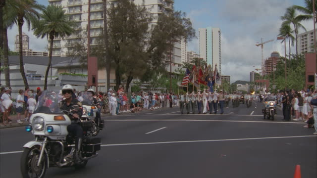 MS, PAN,  Parade of Pearl Harbor survivors, Pearl Harbor and Honolulu, Hawaii, USA