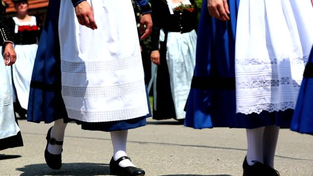Parade of Traditionally Dressed Bavarian Women
