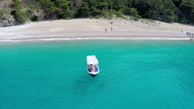 paradise beach - aerial video - oludeniz stock videos and b-roll footage