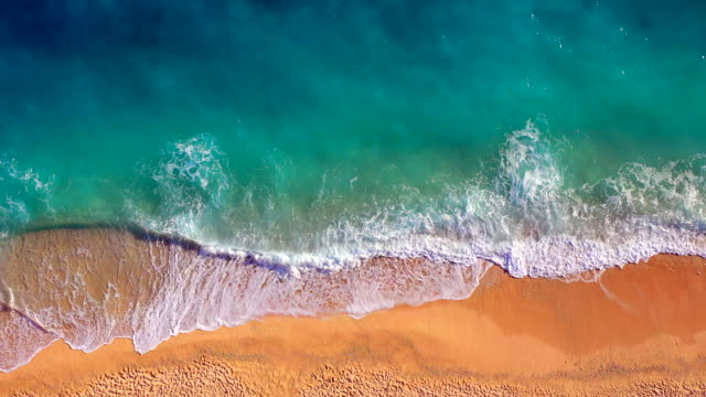 paradise beach aerial viev - caribbean sea stock videos & royalty-free footage