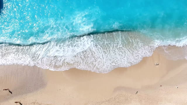 paradise beach aerial viev - greece stock videos & royalty-free footage