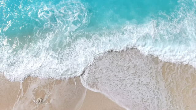 paradise beach aerial viev - caribbean sea stock videos and b-roll footage