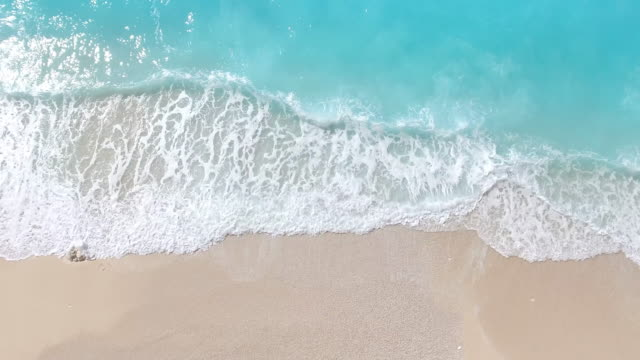 paradise beach aerial viev - caribbean sea stock videos & royalty-free footage