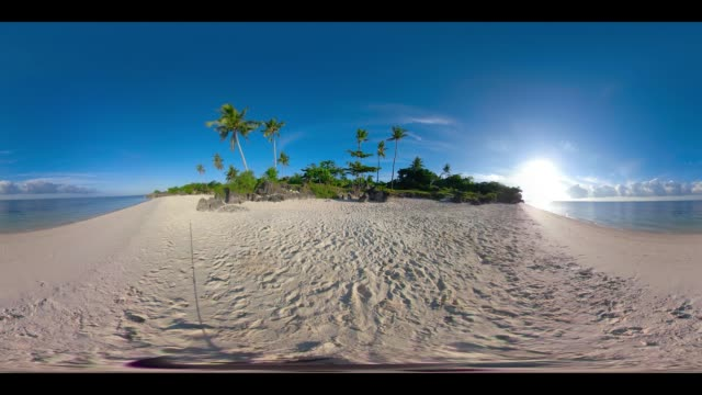 360 vr paradise beach at bantayan island, philippines - 360 video stock videos & royalty-free footage