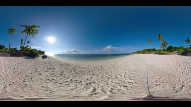 360 vr paradise beach at bantayan, philippines - 360 video stock videos & royalty-free footage