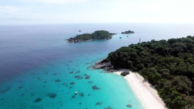 a paradise beach in the similan islands, thailand - david ewing stock videos & royalty-free footage