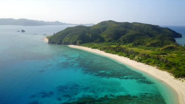 paradise islands fly over - okinawa prefecture stock videos & royalty-free footage