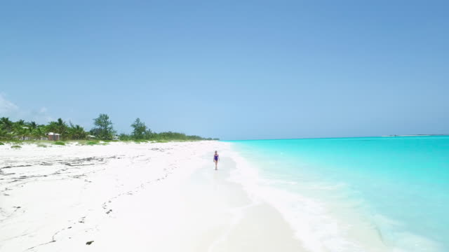 paradise walk - bahamas stock videos and b-roll footage