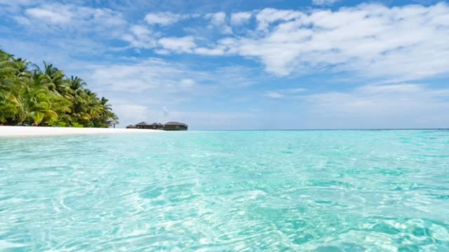 paradisiac beach at maldives - turquoise coloured stock videos & royalty-free footage