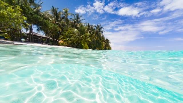 paradisiac sea at maldives - cinemagrafia video stock e b–roll