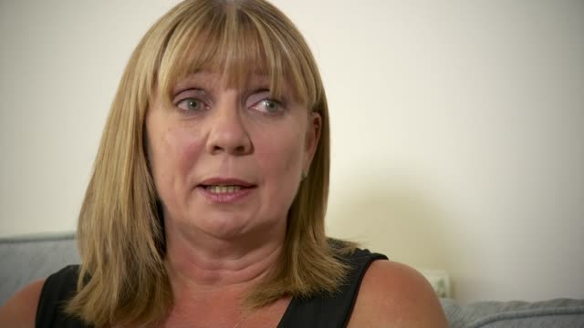 paraffin-based creams to be labelled as potentially flammable; england: west yorkshire: int deborah farmer interview with reporter sot various of... - flammable stock videos & royalty-free footage