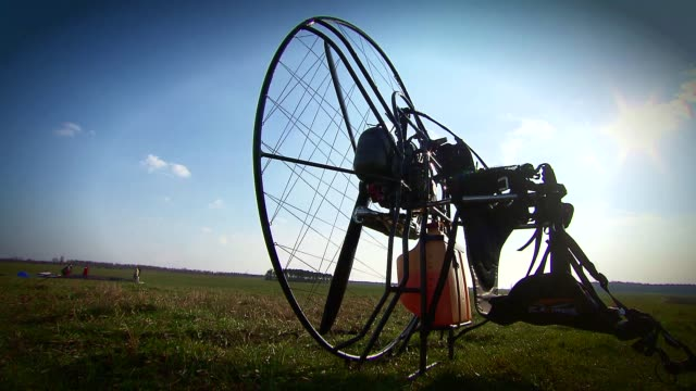 paraglider engine - safety harness stock videos & royalty-free footage