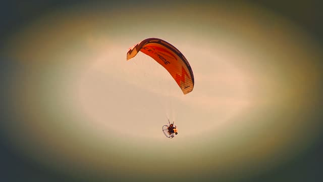 paraglider flight - safety harness stock videos & royalty-free footage