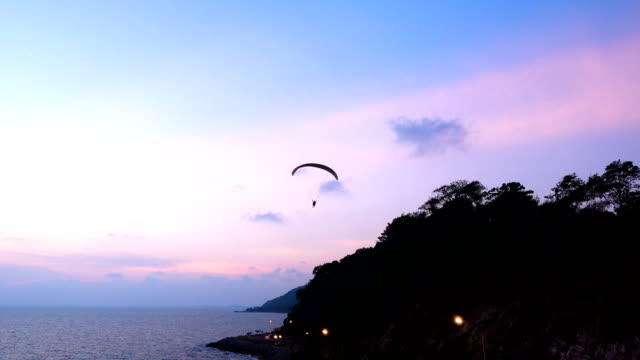 paraglider or paramotor - paragliding stock videos & royalty-free footage