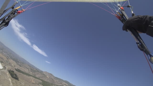paraglider personal perspective - outdoor pursuit stock videos & royalty-free footage