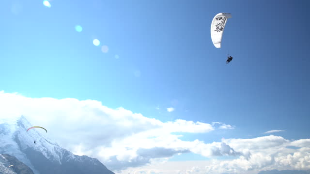 paragliding - gliding stock videos and b-roll footage