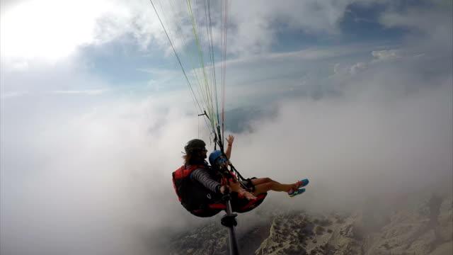 paragliding. (zero retouche) - paragliding stock videos & royalty-free footage