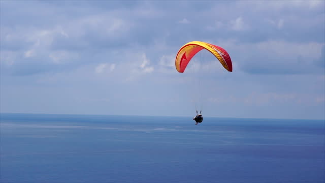 paragliding - parachute stock videos & royalty-free footage