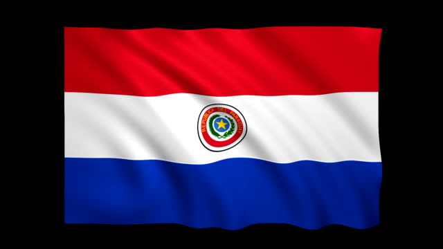paraguay flag loopable matte included - stock video - flag stock videos & royalty-free footage