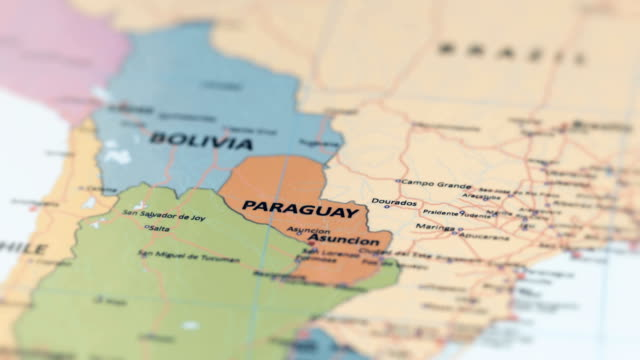 south america paraguay on world map - south stock videos & royalty-free footage