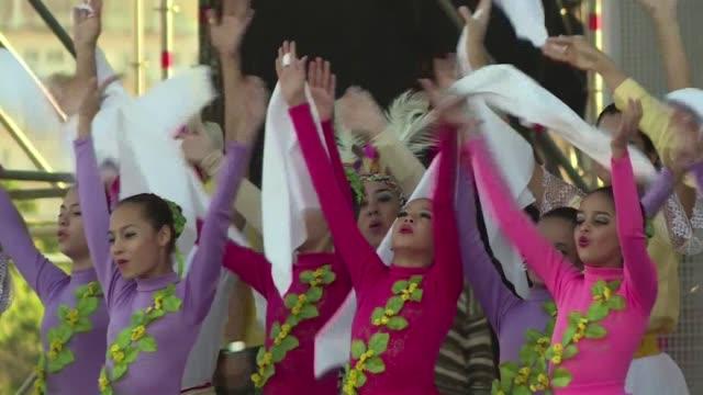 vídeos y material grabado en eventos de stock de paraguay ultima preparativos ante la llegada este viernes del papa francisco, donde culminara su gira sudamericana de ocho dias, que lo llevo también... - viernes