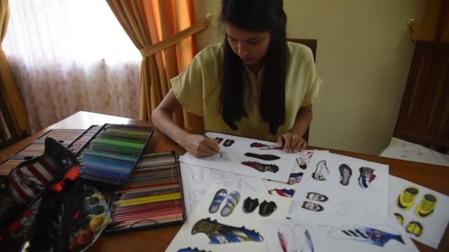 Paraguyan designer Lilian Magali Cantero creates shoes with personalised designs which she sends to celebrities all over the world notably for...