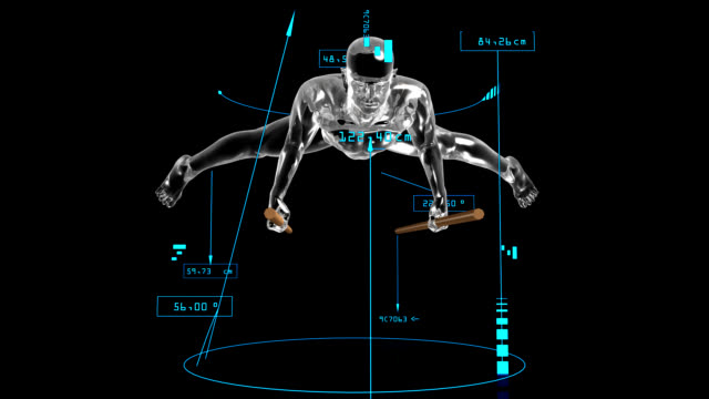 3d parallel bars man with technical data - record breaking stock videos & royalty-free footage