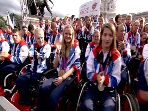 Paralympians at Team GB celebrations