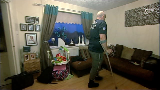 impact of disability benefits cuts int gvs wayne fisher coaching wheelchair basketball team from wheelchair fisher into living room on crutches wayne... - wheelchair basketball stock videos and b-roll footage