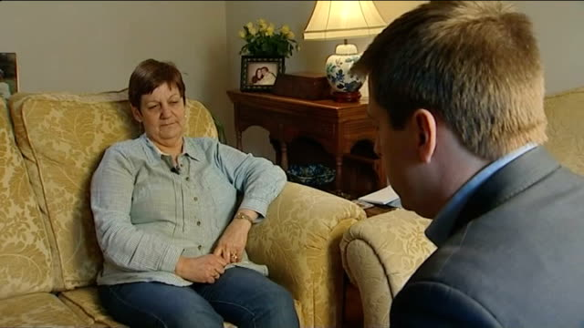 paralysed man paul lamb takes over tony nicklinson's right to die legal battle; jane nicklinson sitting chatting with reporter - paralysis stock videos & royalty-free footage