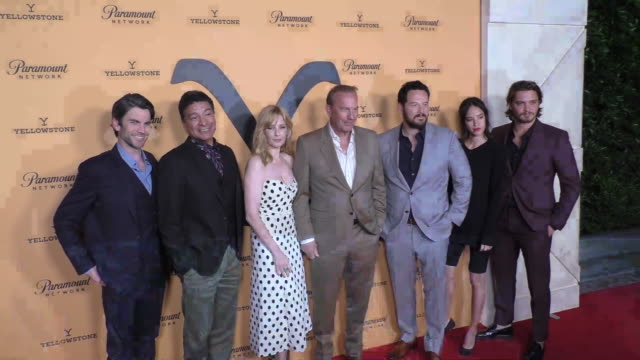 paramount network's yellowstone season 2 premiere party at lombardi house at lombardi house on may 30 2019 in los angeles california - kevin costner stock videos & royalty-free footage