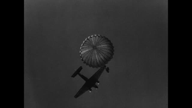 Paratroopers Jump From Airplanes