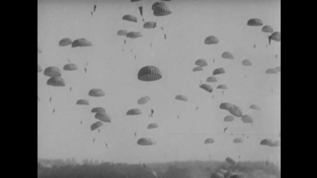 us paratroopers land in germany - drittes reich stock-videos und b-roll-filmmaterial
