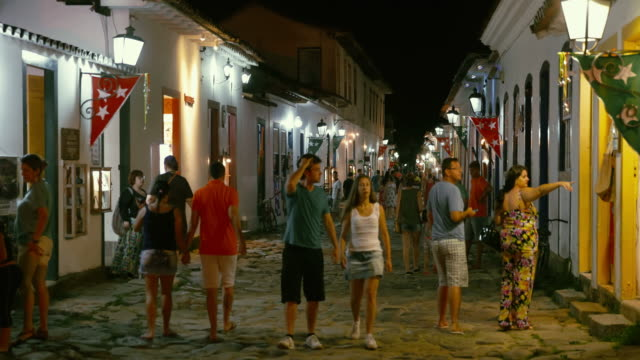 paraty old town streets in brazil - rio de janeiro stock videos and b-roll footage