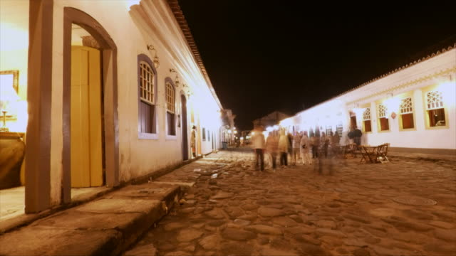 vídeos de stock e filmes b-roll de paraty street - brazil - estilo colonial