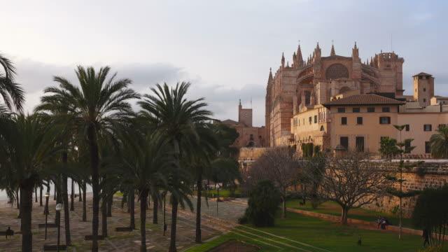 Parc de la Mar, La Seu Cathedral, Palma de Mallorca, Majorca, Balearic Islands, Spain