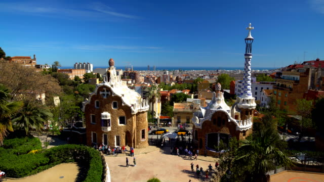 Parc Güll in Barcelona, Time Lapse