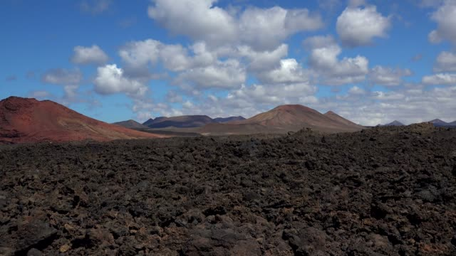 parc natural los volcanos near los hervideros, lanzarote, canary islands, spain, atlantic, europe - atlantic islands stock videos & royalty-free footage